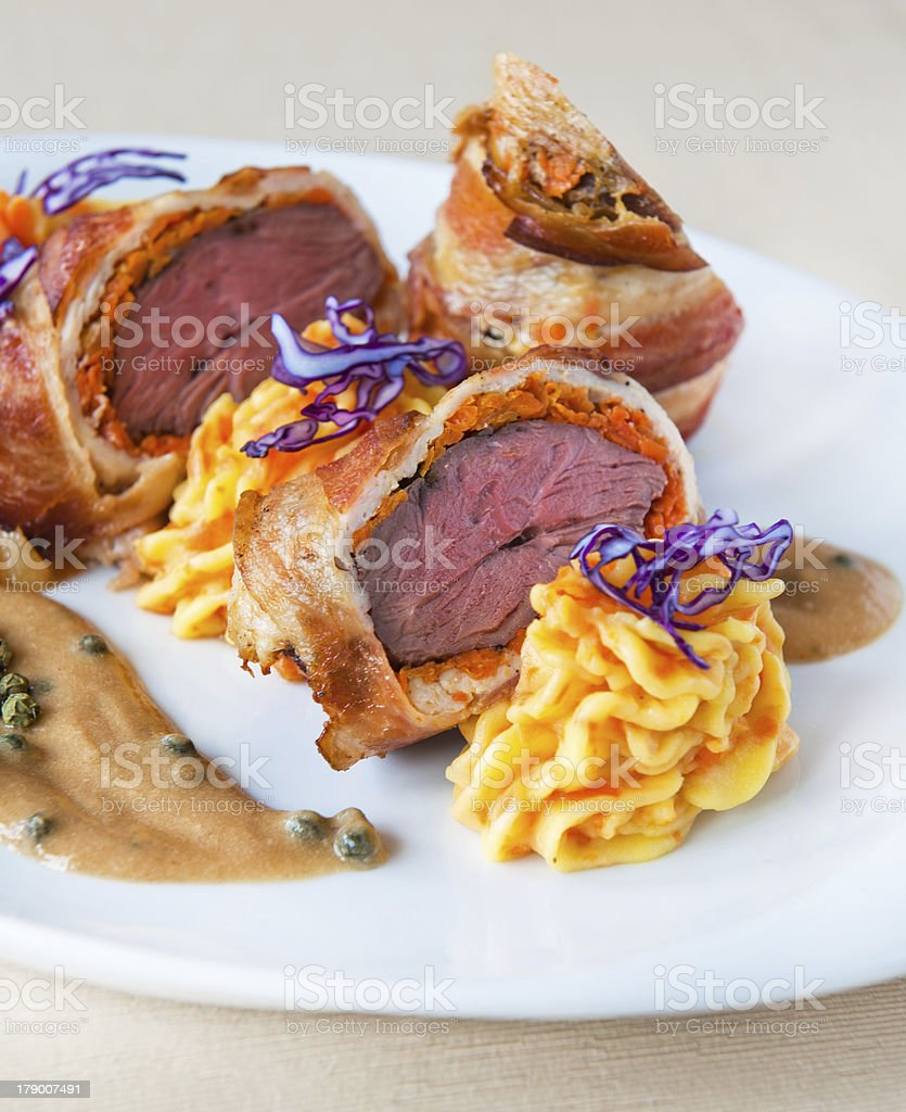 veal roulade royalty-free stock photo