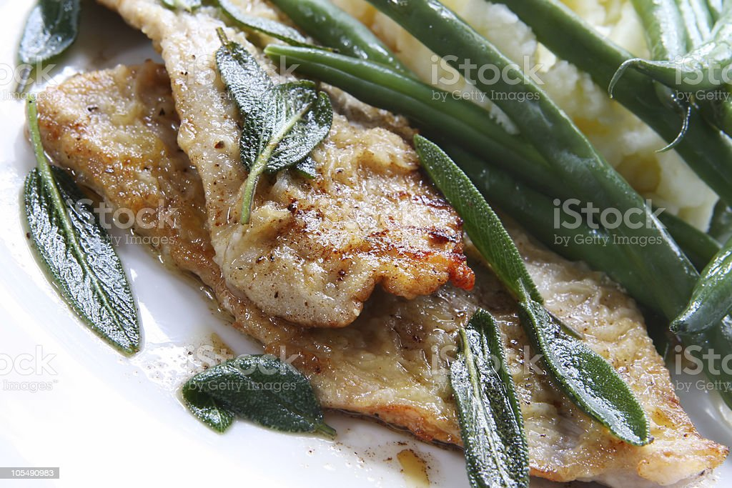 Veal Scaloppini royalty-free stock photo