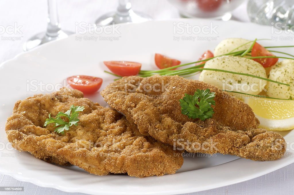 veal schnitzel royalty-free stock photo