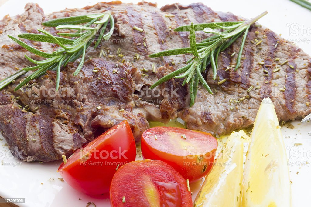 Veal steaks royalty-free stock photo