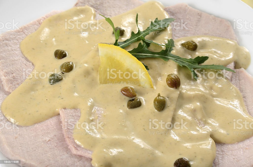 Vitello Tonnato royalty-free stock photo