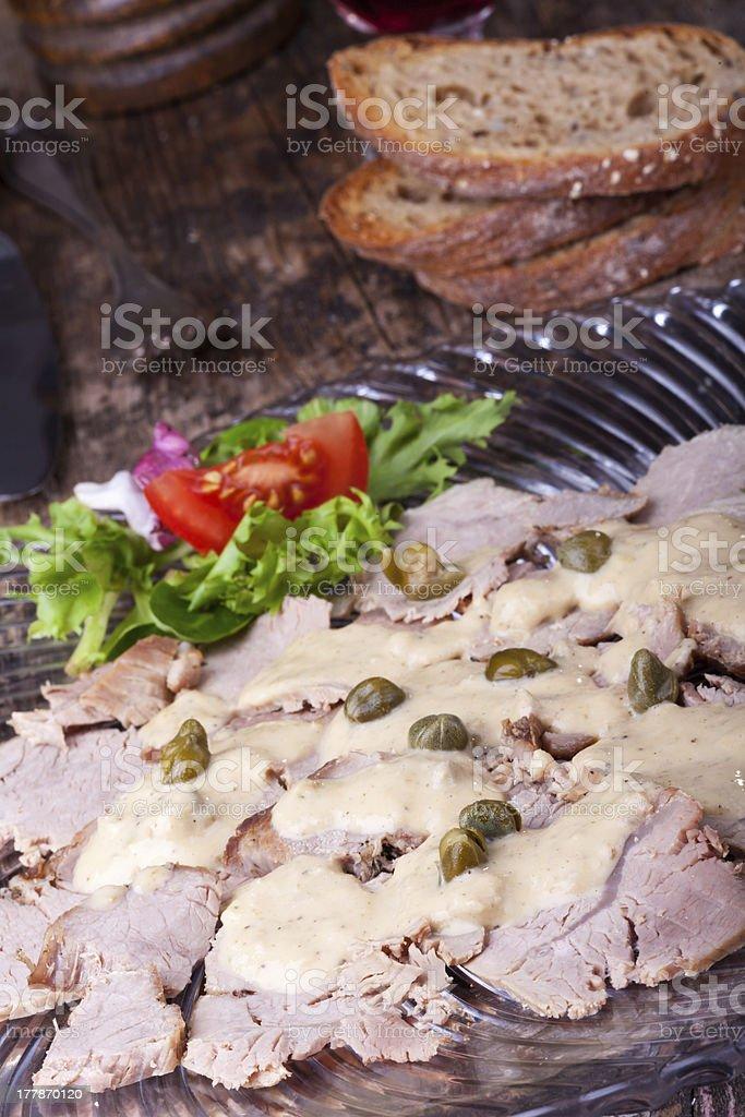 vitello tonnato stock photo