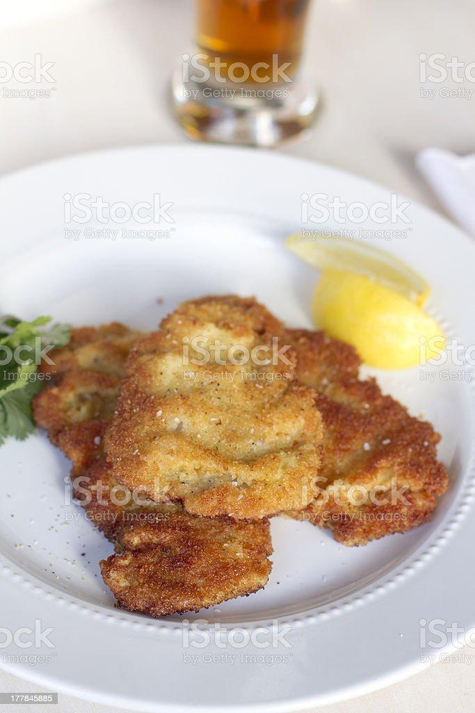 Veal Weinerschnitzel royalty-free stock photo