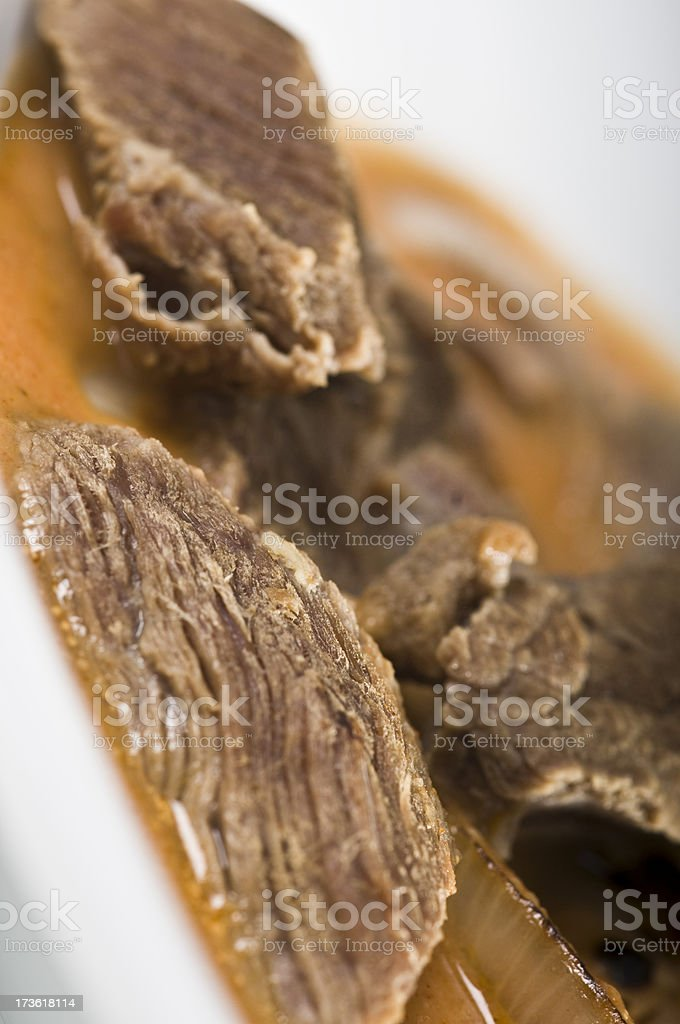 veal with onion royalty-free stock photo
