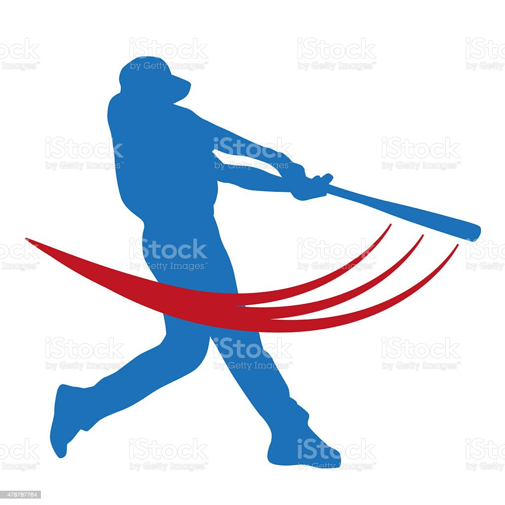Vector baseball player stock photo