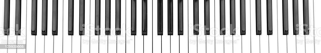 Vector cartoon of partial piano keyboard stock photo