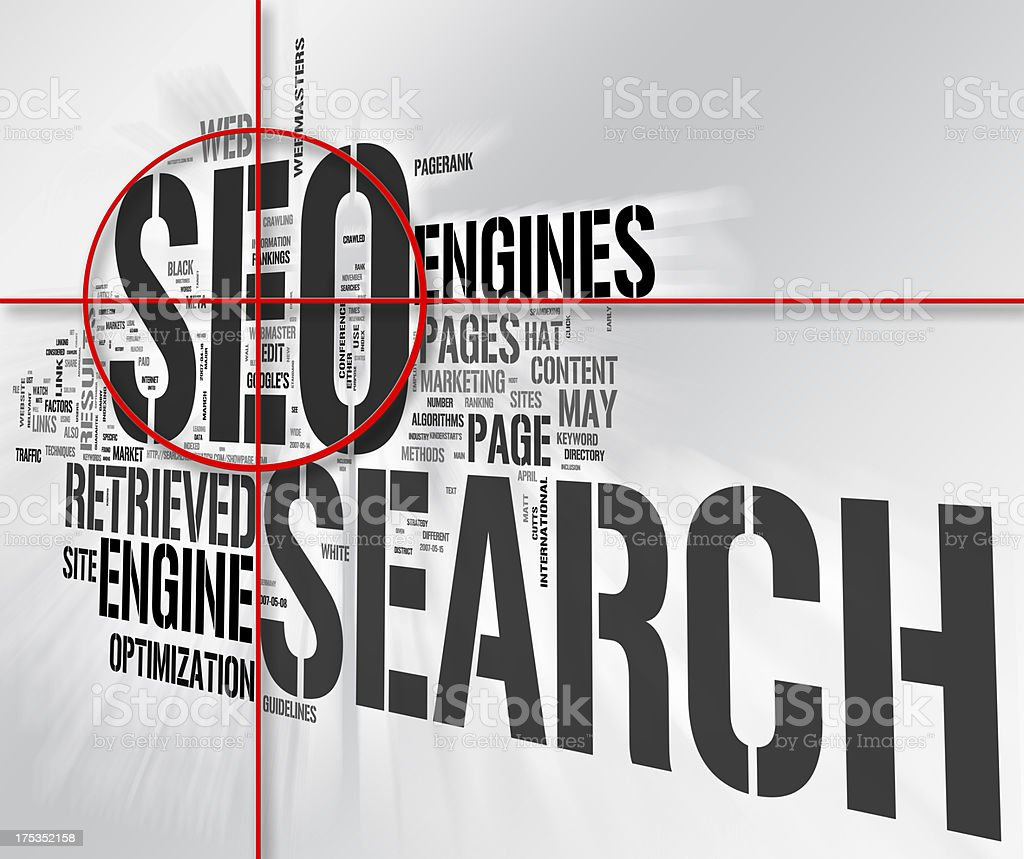 Vector design representing searching on the Internet stock photo
