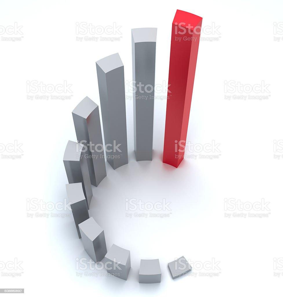 Vector diagram stock photo