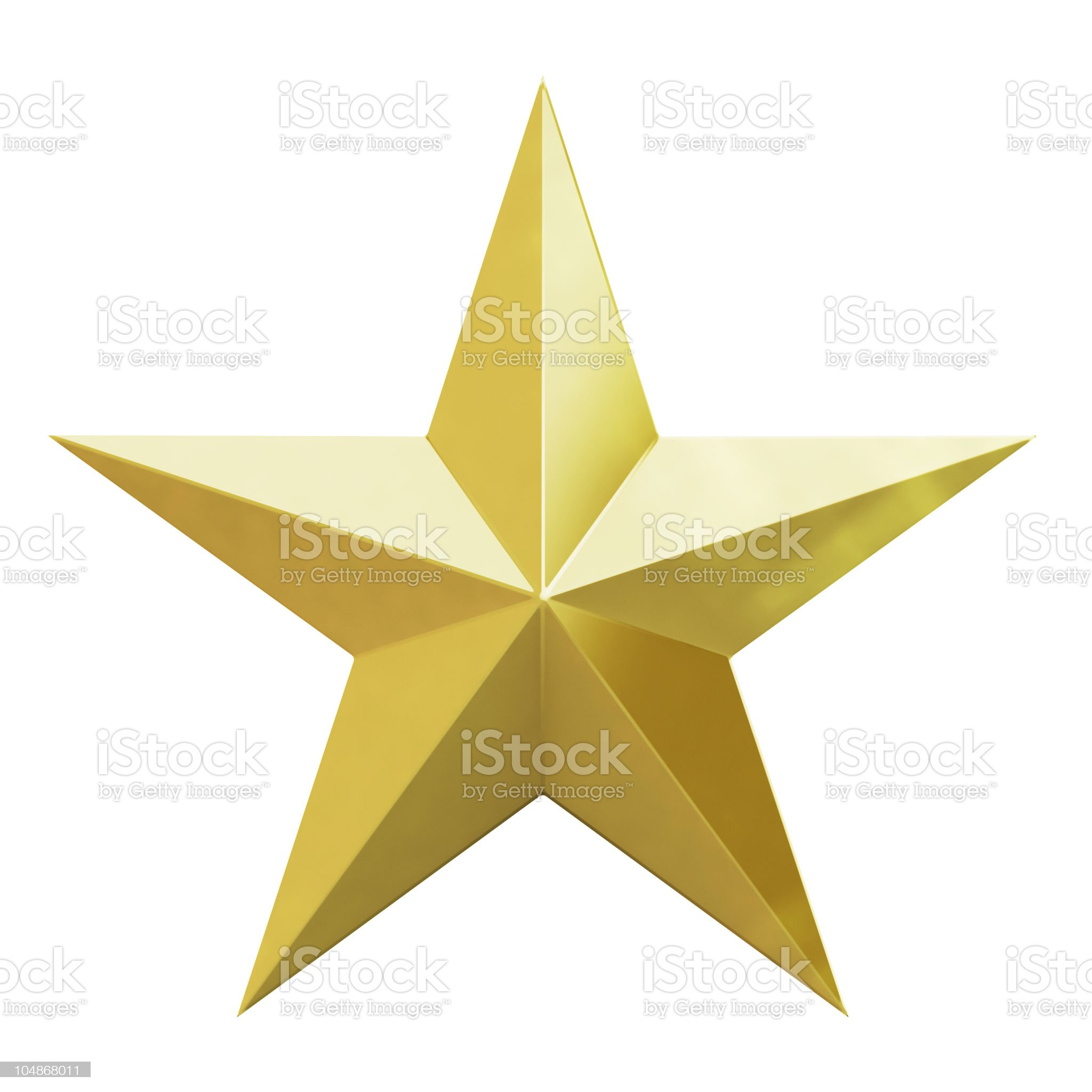 Vector illustration of a Christmas gold star on white royalty-free stock photo