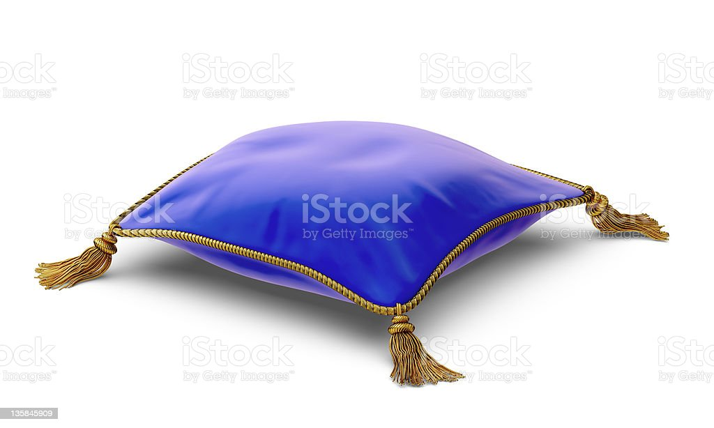 A vector illustration of a royal blue pillow royalty-free stock photo