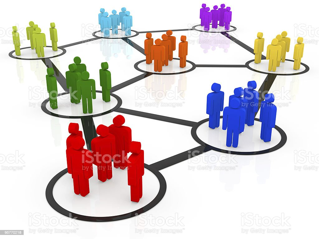 A vector illustration of networking people royalty-free stock photo