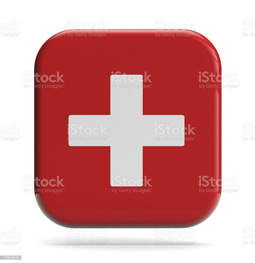 Vector image of first aid icon stock photo