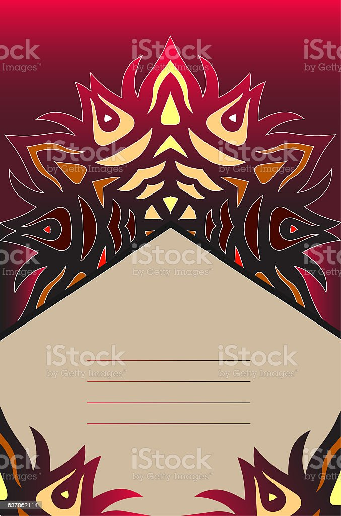 Vector lace pattern in Eastern style. stock photo