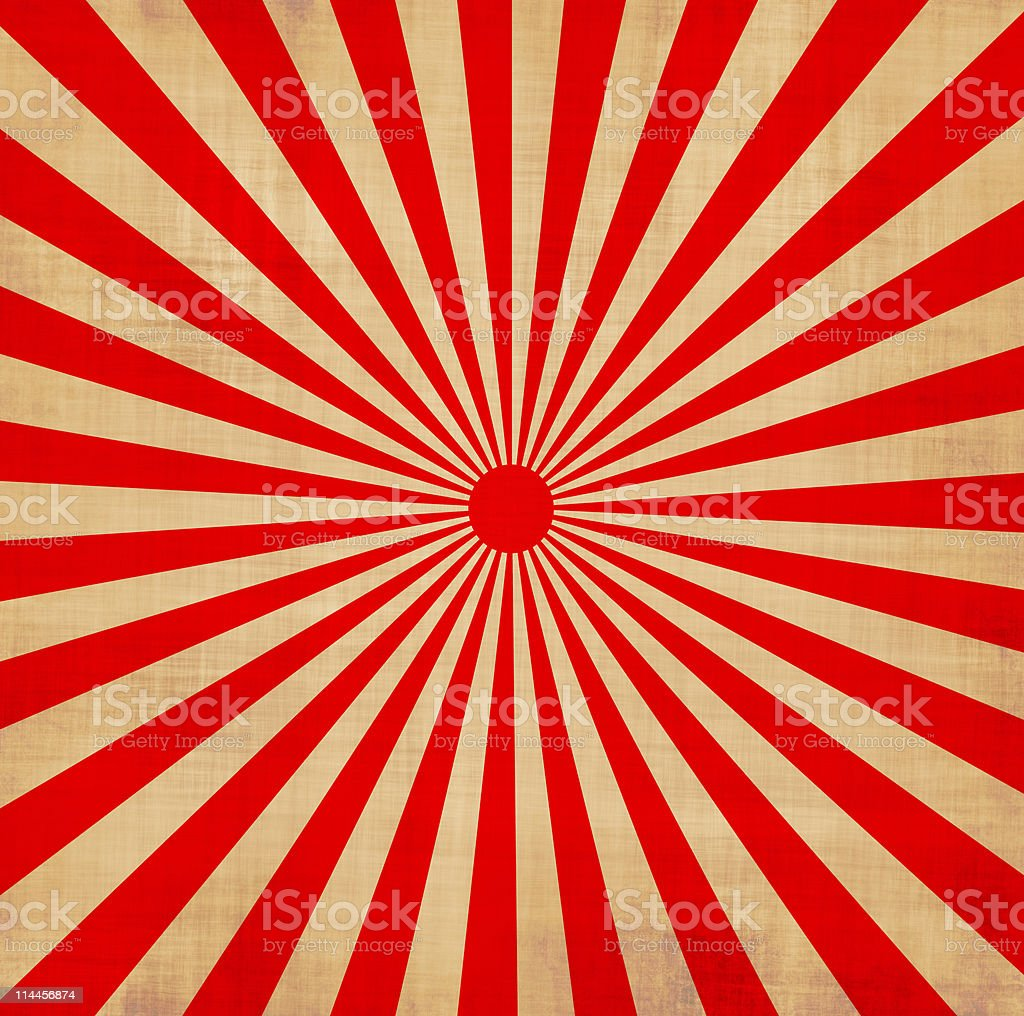 Vector of red Japanese rising sun stock photo