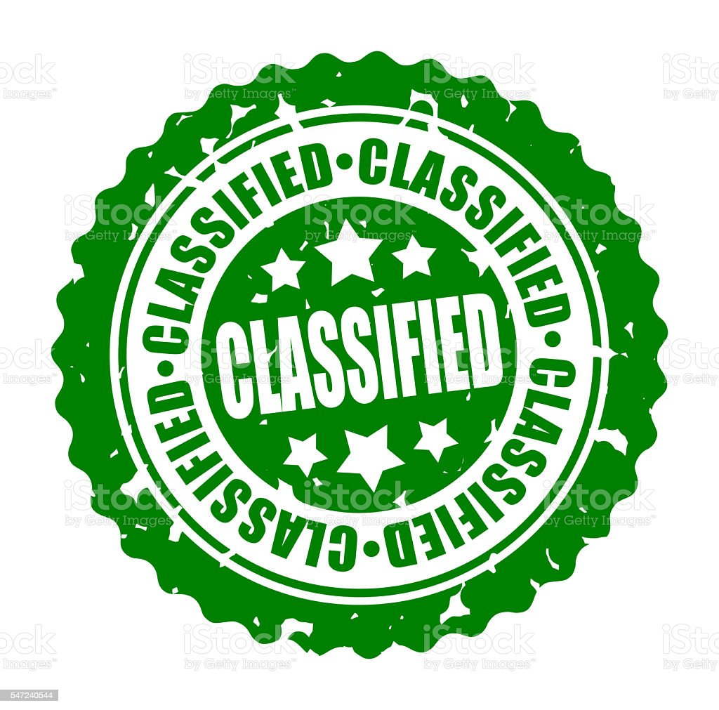 Vector round stamp CLASSIFIED stock photo