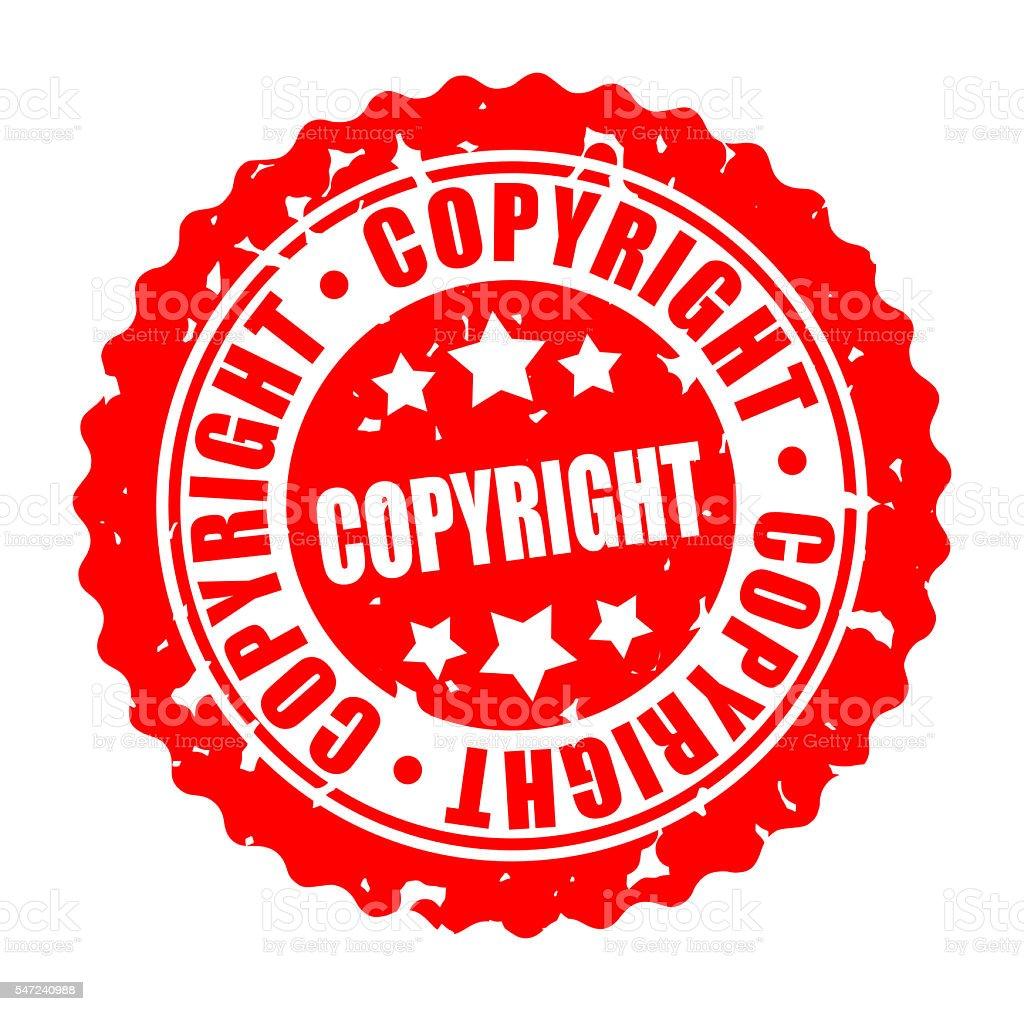 Vector round stamp COPYRIGHT stock photo
