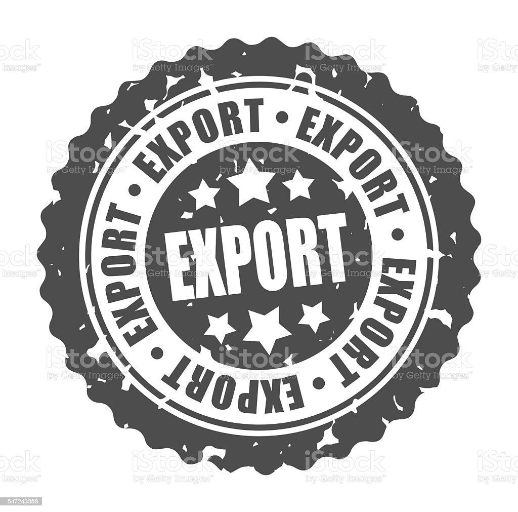 Vector round stamp EXPORT stock photo