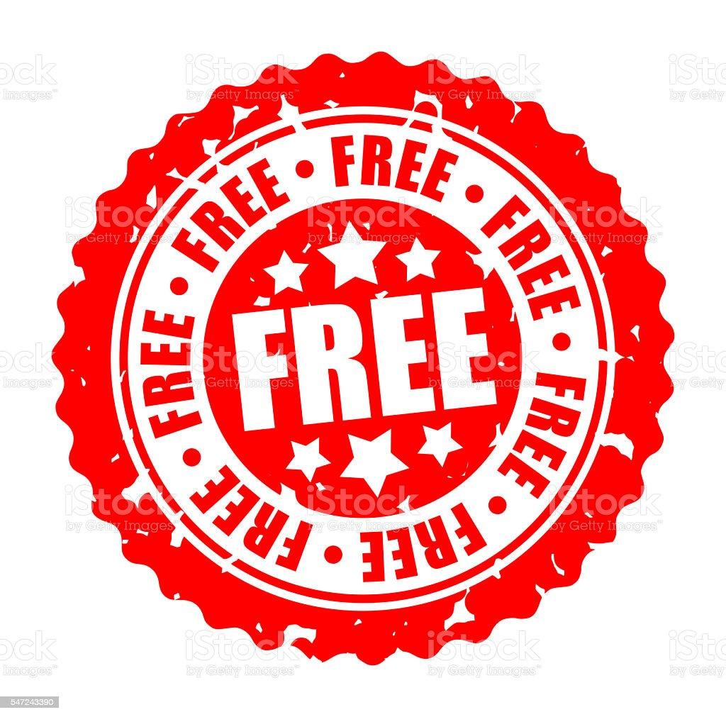 Vector round stamp FREE stock photo