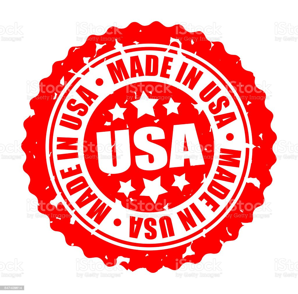 Vector round stamp MADE IN USA stock photo