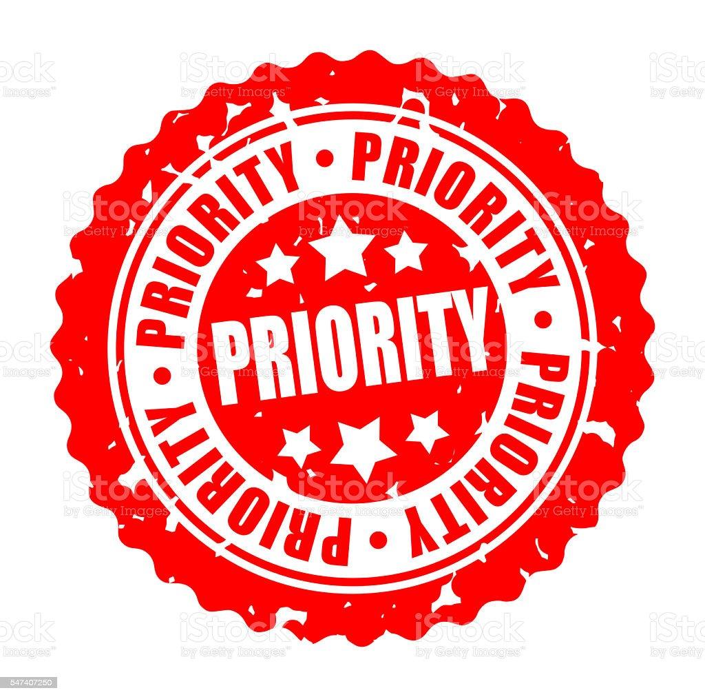 Vector round stamp PRIORITY stock photo