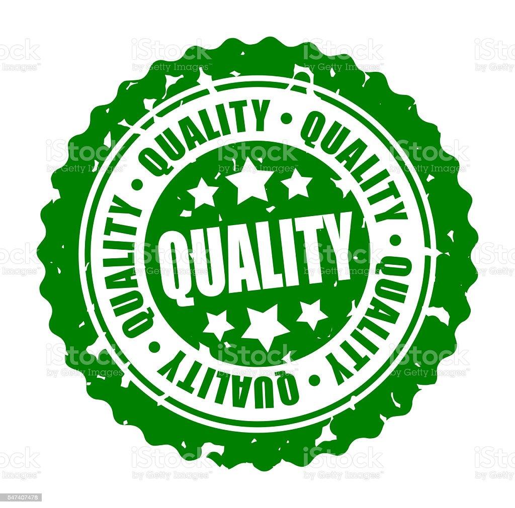 Vector round stamp QUALITY stock photo