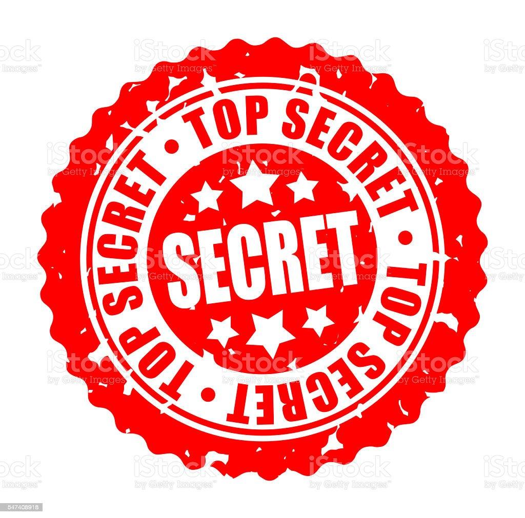 Vector round stamp TOP SECRET stock photo