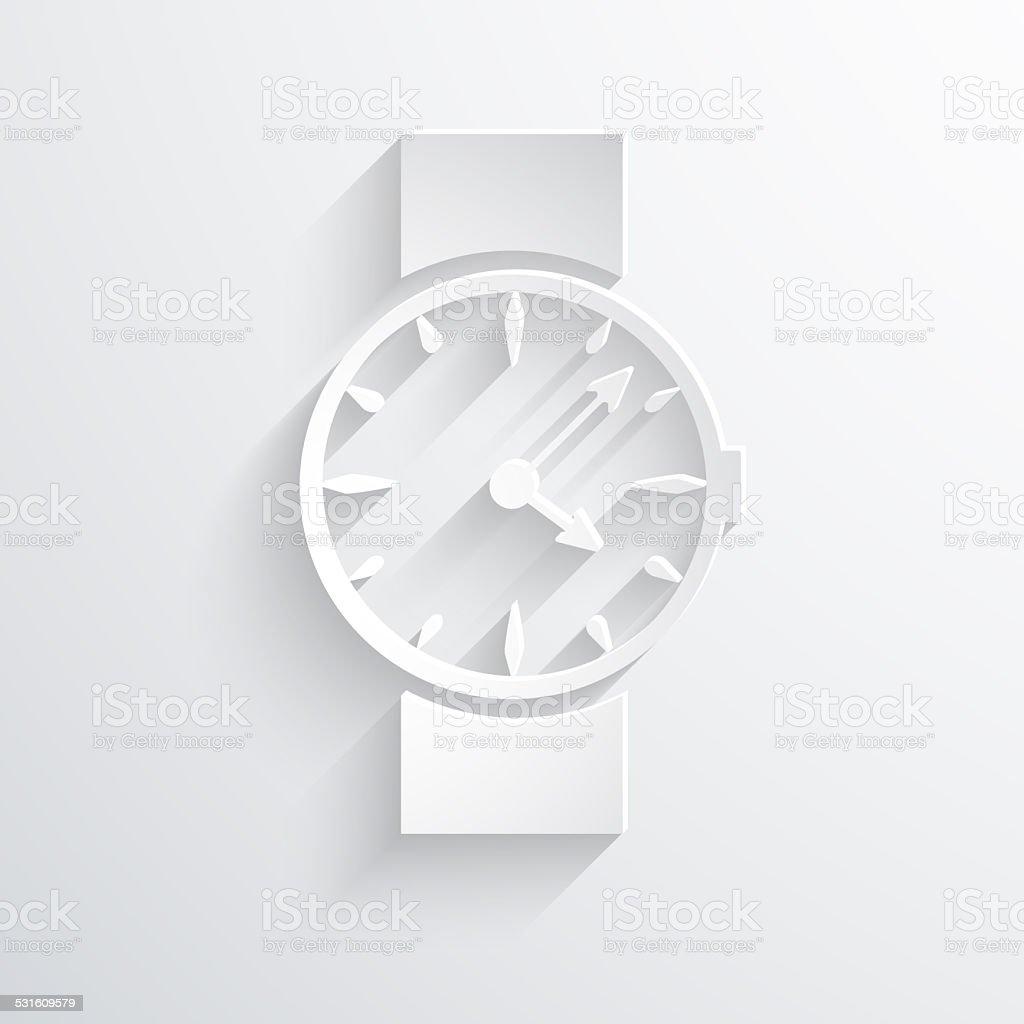 Vector watch, clock web icon. stock photo