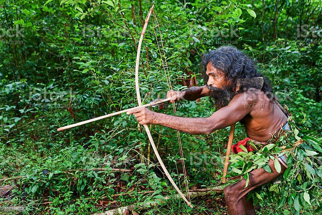 Vedda people, Sri Lanka royalty-free stock photo