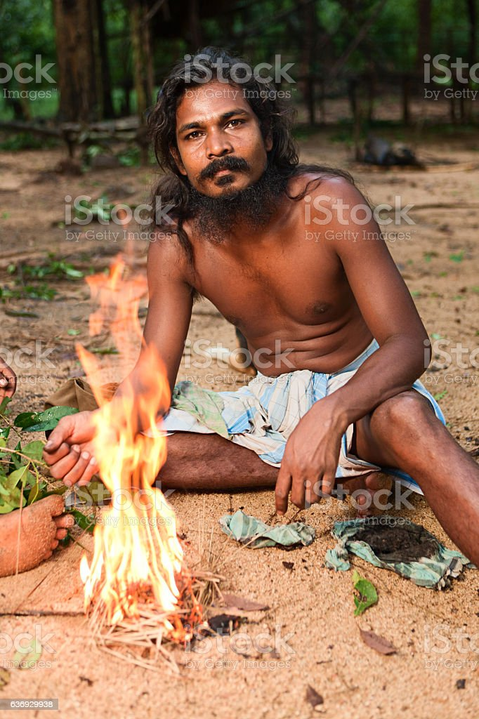 Vedda people, Sri Lanka stock photo