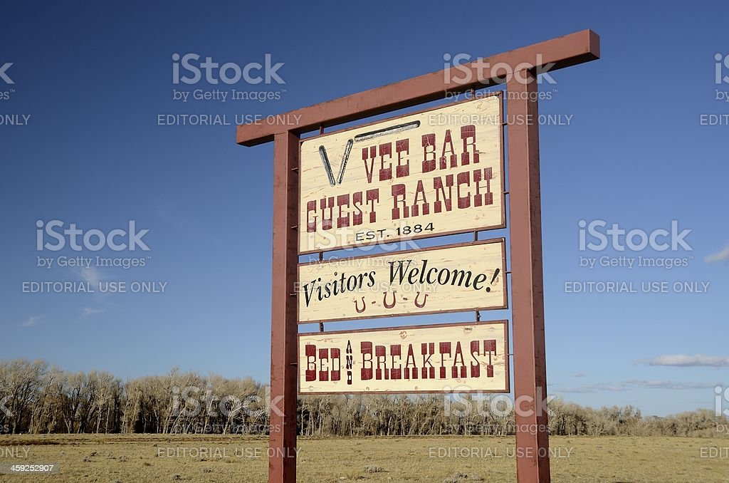 Vee Bar Guest Ranch, Laramie, Wyoming stock photo