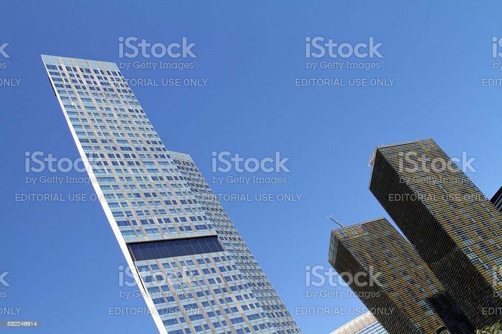 Veer Towers and Mandarin Oriental Hotel stock photo