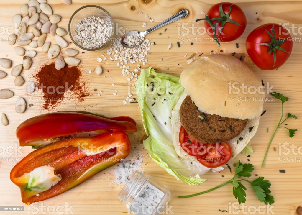Veg burger stock photo