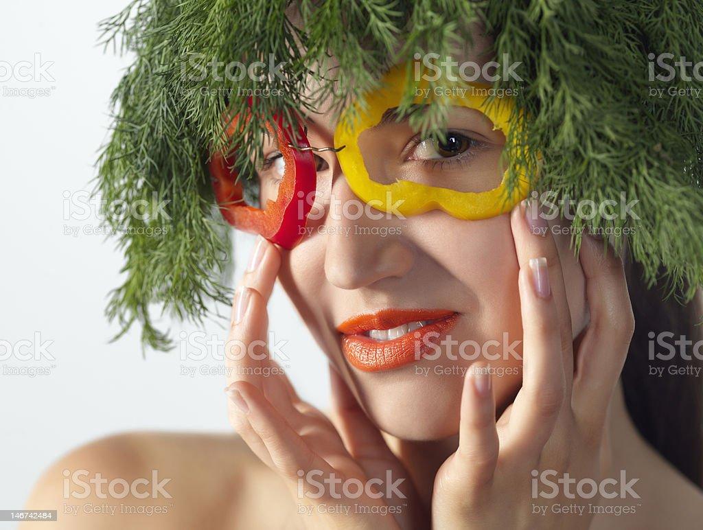 Veg woman royalty-free stock photo
