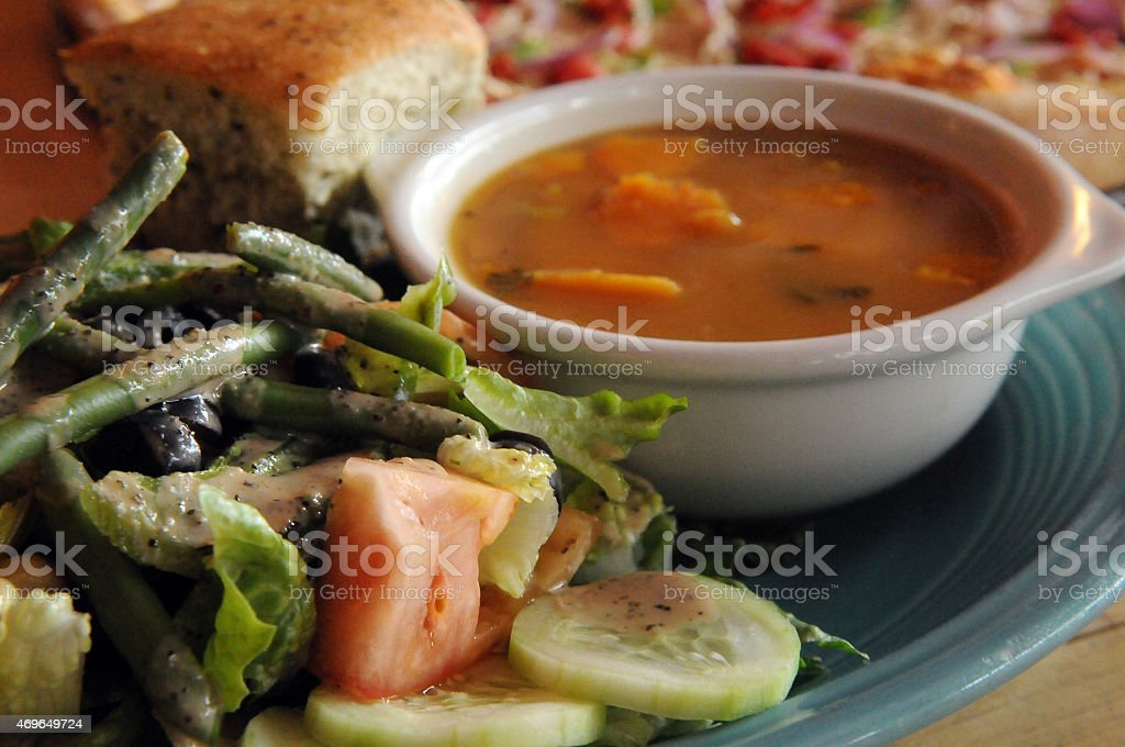 Vegan Combo Close-Up stock photo