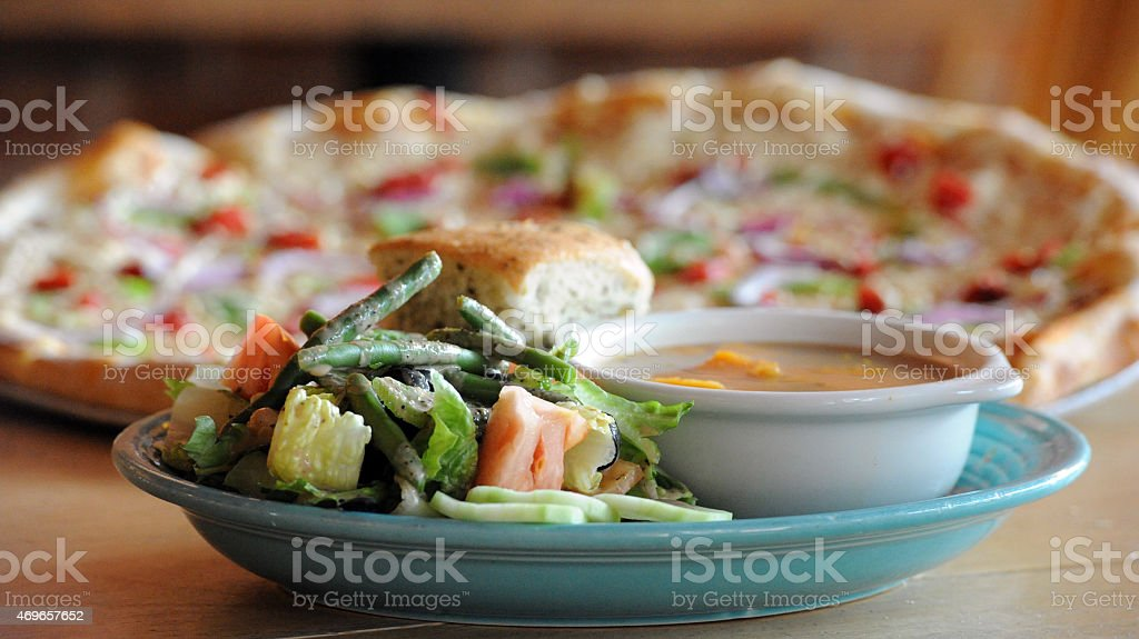 Vegan Combo Served stock photo