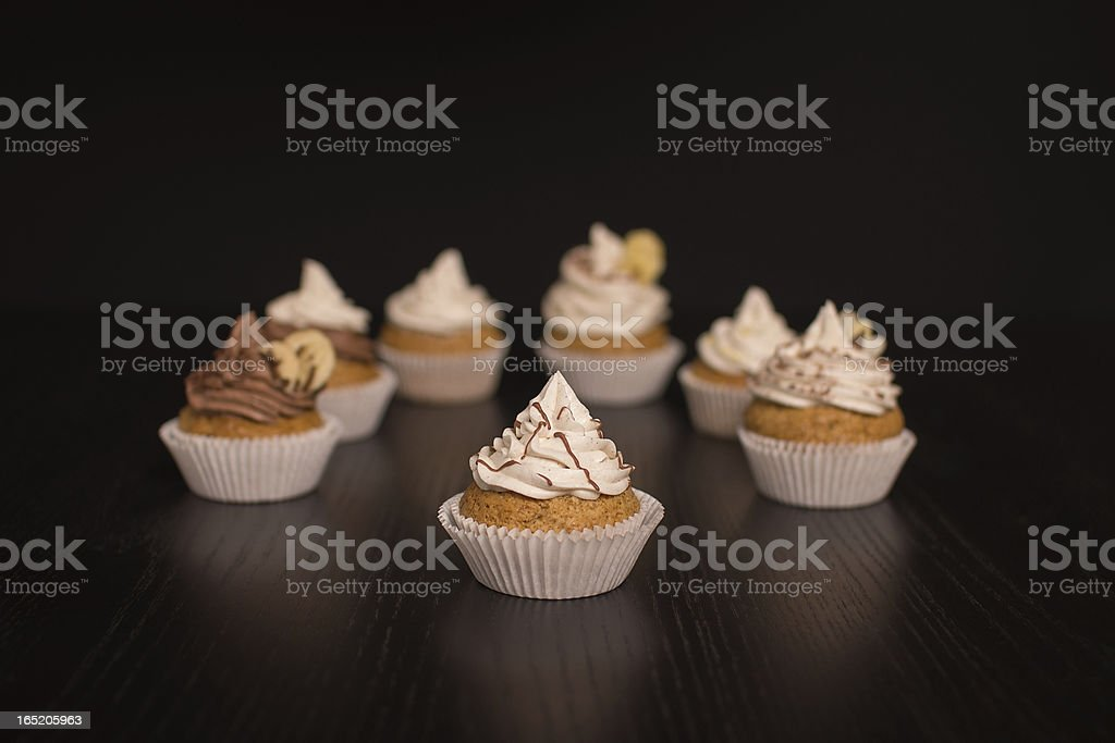 Vegan Cupcakes infront of dark Background royalty-free stock photo