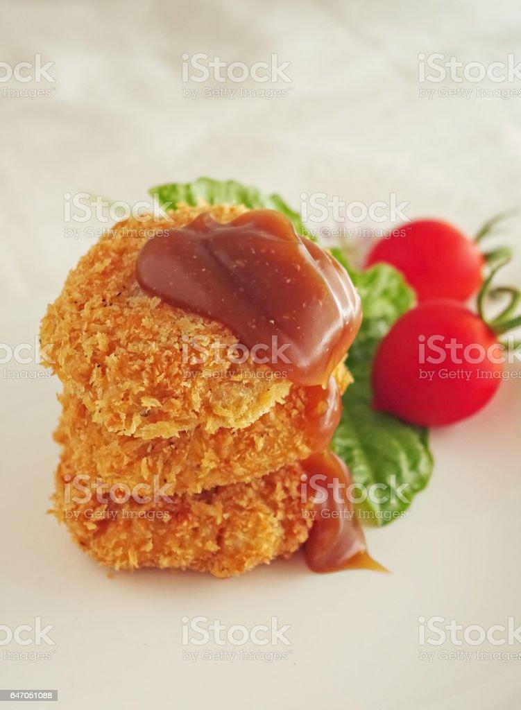 Vegan cutlets stock photo