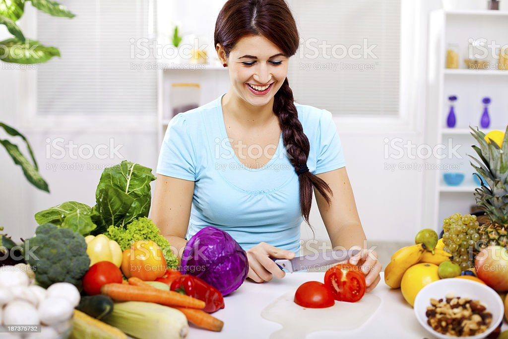Vegan girl royalty-free stock photo
