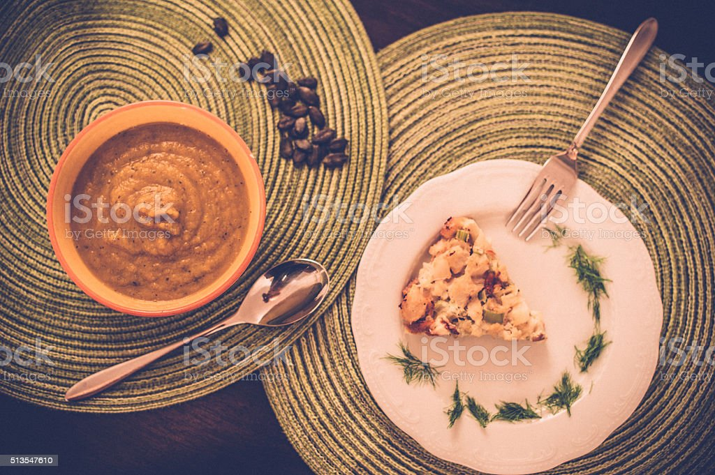 Vegan Lunch stock photo