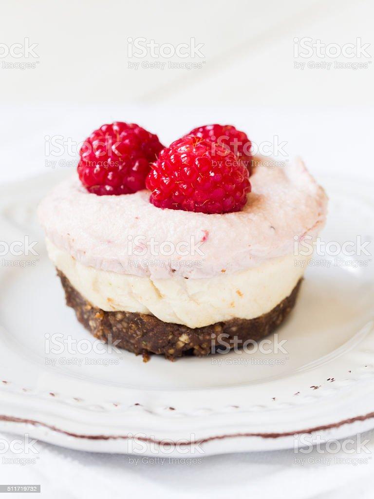 Vegan mini 'cheesecake' stock photo