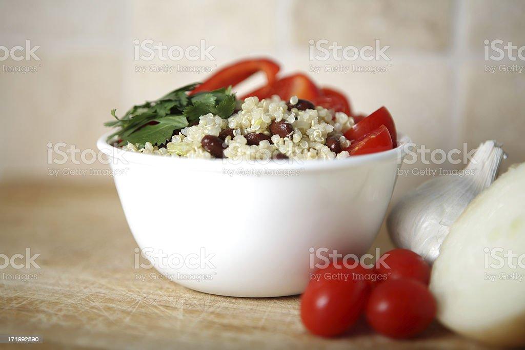 Vegan Quinoa Salad with Vegetables - Horizontal royalty-free stock photo