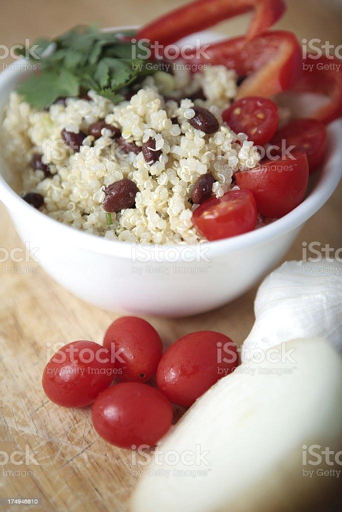 Vegan Quinoa Salad with Vegetables royalty-free stock photo