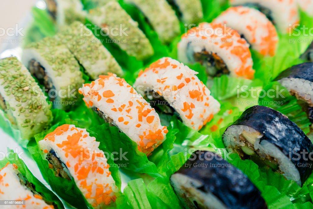 Vegan Sushi Rolls stock photo