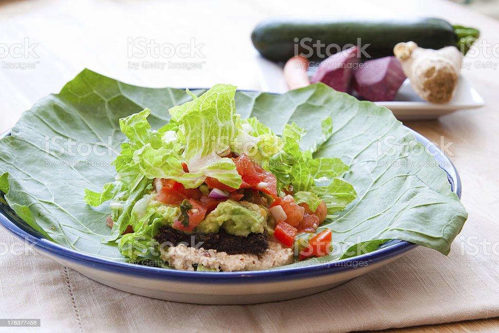 Vegan Taco Wrap stock photo