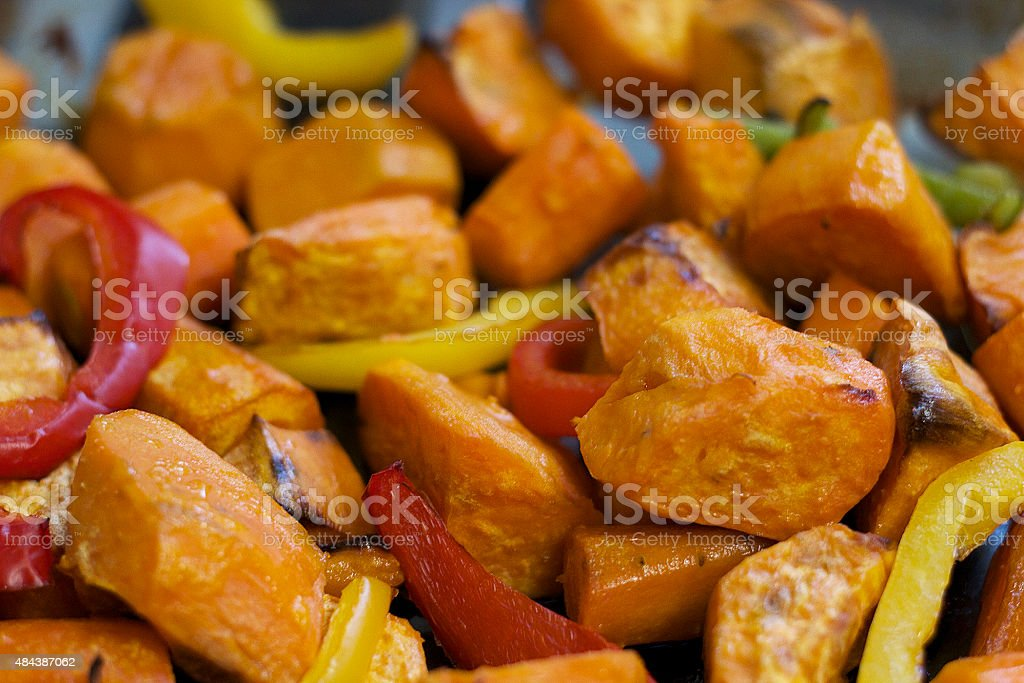 Vegan/ Vegetarian Sweet Potatoes Meal stock photo