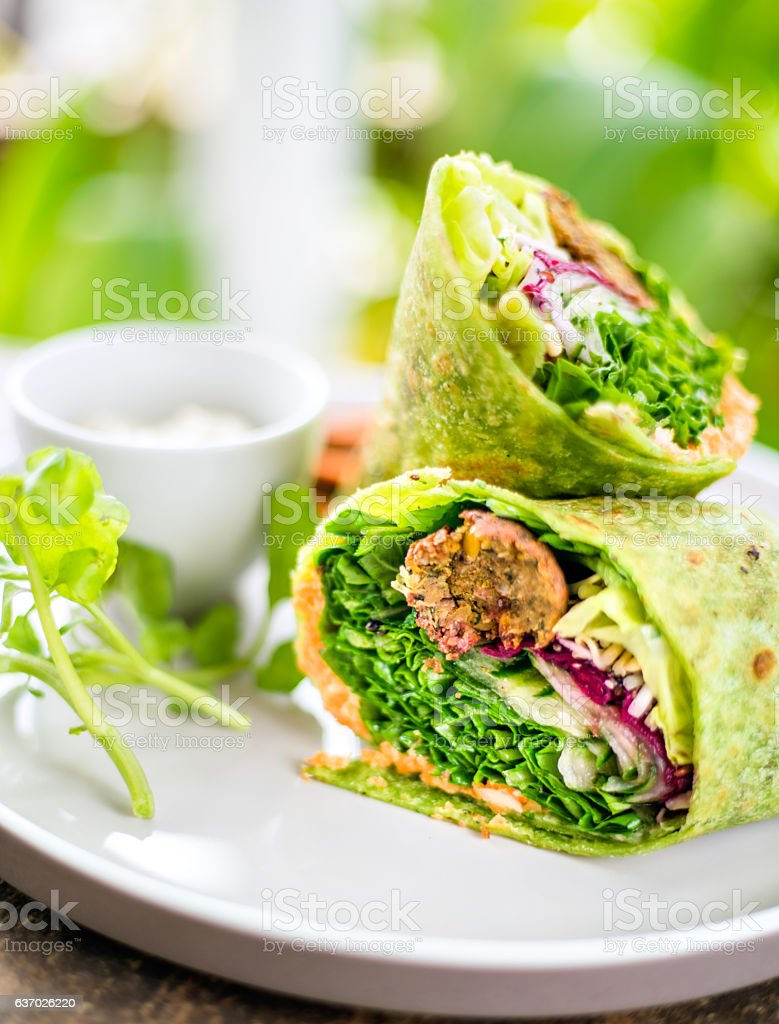 Vegan wrap stock photo