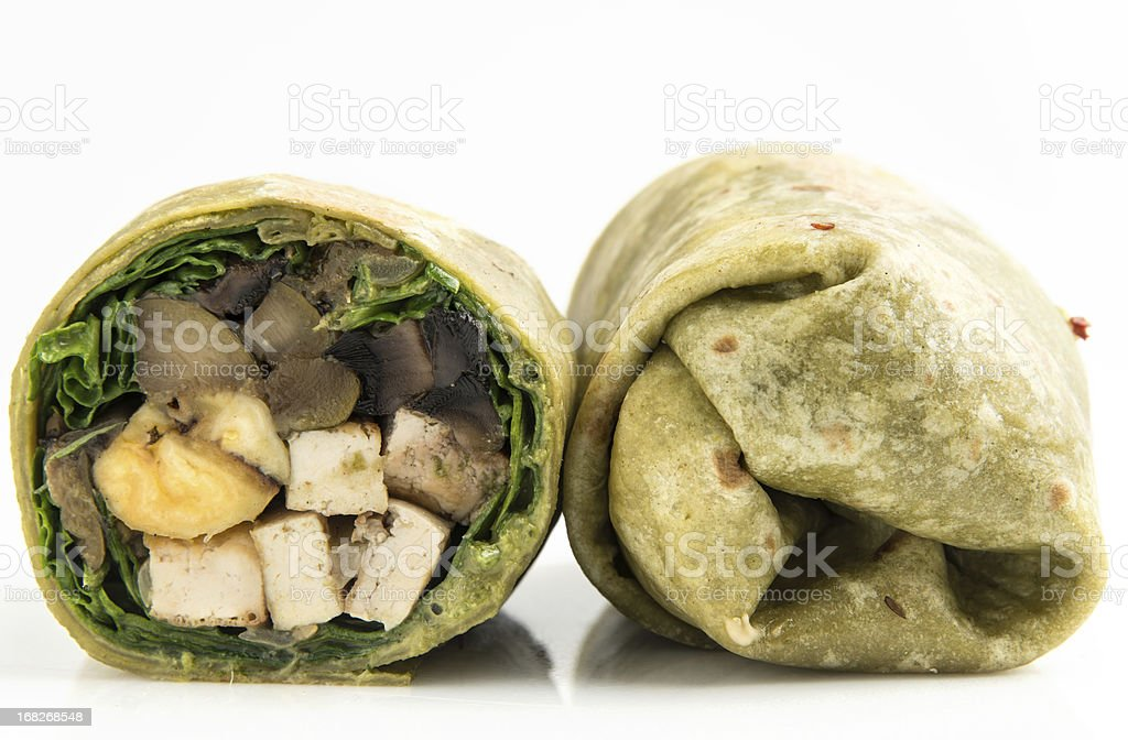 Vegan Wrap Sandwich stock photo