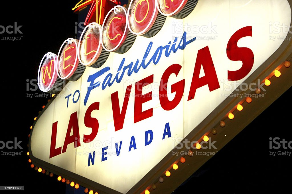Vegas night sign royalty-free stock photo