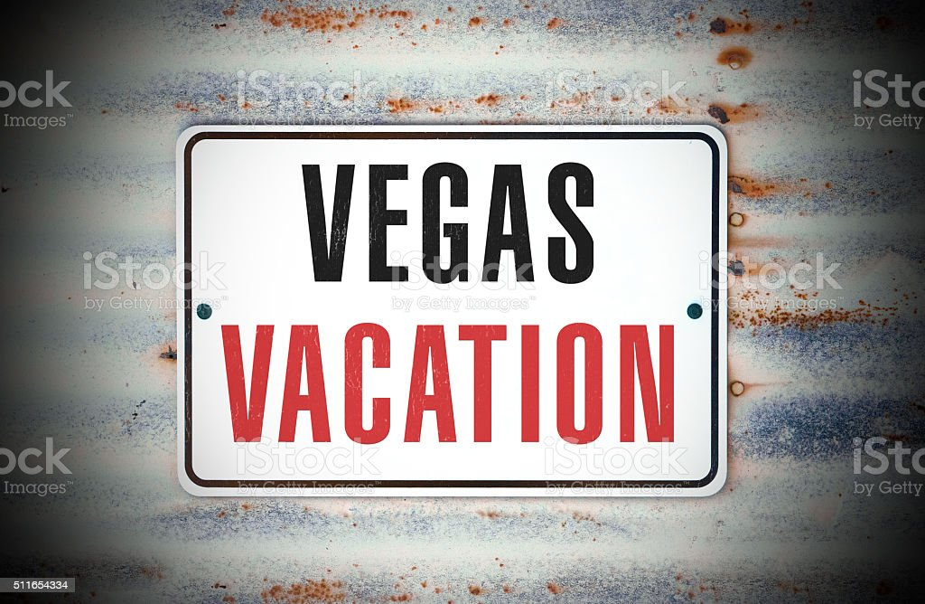 Vegas Vacation stock photo