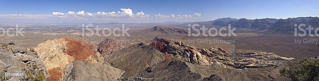 vegas valley panorama from turtlehead peak royalty-free stock photo